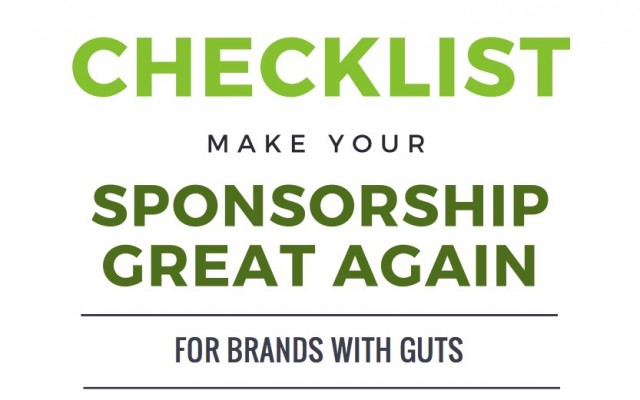 Checklist for Sponsors